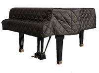 Grand Piano Cover Any Size Quilted, Mackintosh or Vinyl Custom Embroidery Option