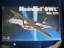 MAQUETTE 1/72 VINTAGE  REVELL HEINKEL HE 219 OLW  WWI MILITAIRE
