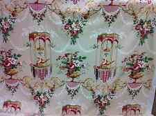"A.L.DIAMENT & CO UK HANDPRINT FABRIC Chintz Asian LOUIS XVI CABLE DOVES"" BEAUTY!"