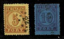 NETHERLANDS 1870 POSTAGE DUES SET...SGJ1 + J2...FINE USED