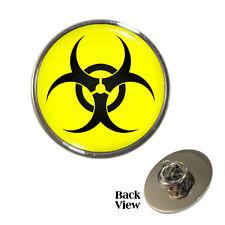 Bio Hazard Symbol Design Metal Pin Badge virus toxic toxin biohazard Brand New