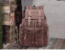 Men Women Vintage  Canvas Backpack Rucksack School Satchel Travel Hiking Bag