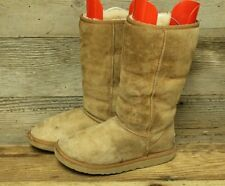UGG AUSTRALIA CLASSIC TALL WOMENS CHESTNUT REAL SHEEPSKIN WINTER BOOTS SZ 7
