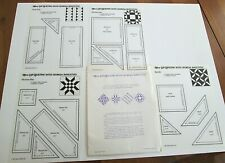 6 Vinyl Quilt Templates 1985 Lap Quilting W/ Georgia Bonesteel Vtg Patterns New