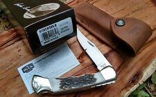 Buck 110 Chairman Custom Stag, finger grooves and filework knife