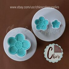 Blue Blossom Flower Plunger Cookie Cutters, 2 pieces set