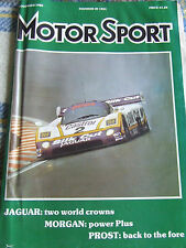 MOTOR SPORT NOV 1988 JAGUAR TWO WORLD CROWNS MORGAN PROST BACK TO THE FORE