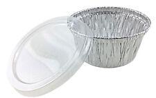 4 oz. Aluminum Foil Cup w/Clear Plastic Lid 50PK -Utility/Cupcake/Ramekin/Muffin