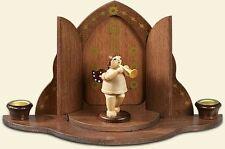 Angelo legno di natale in Porta del cielo Con corona / natura Altezza 6,5 cm