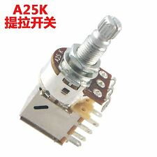3Pcs A25K Push Pull Switch Control Pot Potentiometer For Electric Guitar Bass