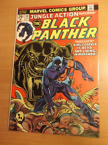 MARVEL: JUNGLE ACTION #10, FEATURING: BLACK PANTHER, 1ST KING CADAVER, 1974, VF+