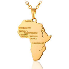 Creative Africa Map Jewelry Gold Plated Necklace African Country Pendant Chain