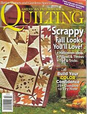 American Patchwork and Quilting Magazine Fall Quilts Halloween Projects Pattern