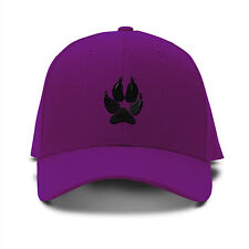 FOX FOOT PRINT ANIMALS Embroidery Embroidered Adjustable Hat Baseball Cap