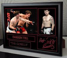 "DARREN TILL UFC canvas tribute signed n ""Great Gift / Souvenir"""