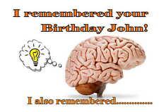 Birthday card,  Funny Rememember 16th 18th 21st 30th 40th 50th 60th 70th 80th