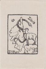 Ex-libris du docteur Jean PIÉRI (1896-1984), de Marseille (Bouches-du-Rhône);