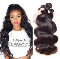 Body Wave Unprocessed Brazilian Virgin Human Hair Extensions 100g Weave weft