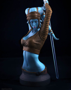 Star Wars Aalya Secura Bust Gentle Giant not Sideshow Statue