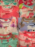 NWT Carters Boys Girls Pajamas Pjs Fleece Disney or Nickelodeon Footed