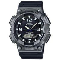 Casio Men's Tough Solar 5 Alarms Gray Case Black Resin 47mm Watch AQS810W-1A4V