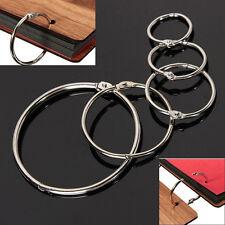 10Pcs Metal Hinged Ring Book Binder Craft Photo Album Split Keyring Scrapbook Io