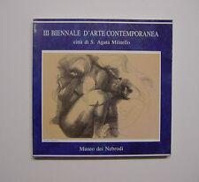 3 Biennale d'arte contemporanea Città di S. Agata Militello Museo Nebrodi, 1992