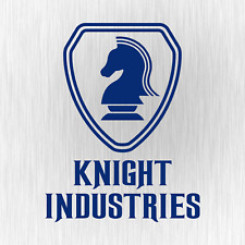 KNIGHT INDUSTRIES Rider Kitt Michael 80s Blau Auto Vinyl Decal Sticker Aufkleber