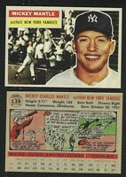 LOT of 25 REPRINT 1956 Topps #135 MICKEY MANTLE Yankees HOF