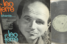 "LEO FERRE*Léo Ferré chante L.F*LD-M-4022*ORG 10 "" CHANT DU MONDE 10 "" MONO BIEM"