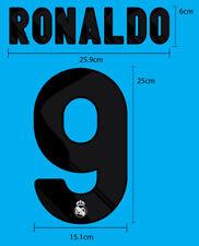 Real Madrid CF Home 2009-10 SOCCER FOOTBALL NAME  NUMBER PU PRINT