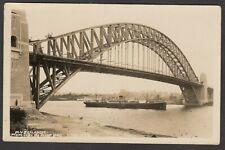 Postcard Sydney Harbour Bridge NSW Australia steam ship MV Zealandic early RP
