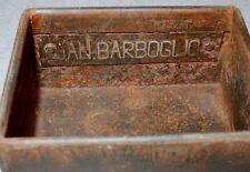 Vintage Jan Barboglio 2 Piece Small Simple Metal Box * Signed *