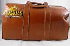 Vintage 1955 Purdue Engineers Brown Leather Doctors Style Satchel Tote