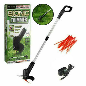 Cordless Grass Trimmer Electric Weed String Lawn Cutter Eater Strimmer UK Plug
