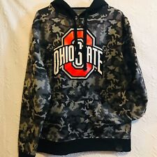 Ohio State Black & Gray Camo Hoodie Sweatshirt ~ Men's Size M