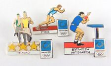 Athens Olympic Games 2004 Pin Badges - 3 x mixed lot - sports - running etc