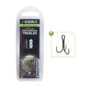 Kodex X-Strong Semi Barbless Treble Hooks