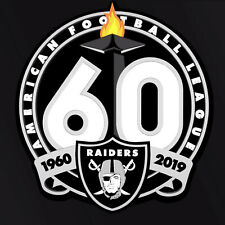 OAKLAND RAIDERS 60TH ANNIVERSARY DECAL VINYL STICKER. FOOTBALL 1960 thru 2019