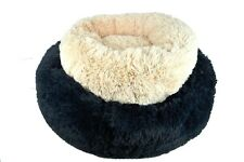 Donut Dog Bed Cozy Poof Style Giant Great for Cats Dogs Pet Orthopedic Washable