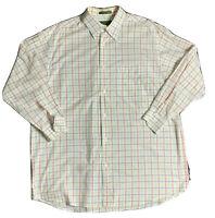 Orvis Mens Multi-Color Plaid Check Button-Down Long Sleeve Shirt Sz L Cotton