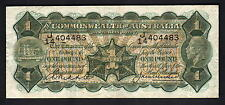 Australia R-26. 1 Pound (1927) -  Riddle/Heathershaw.. George V Portrait.  gVF