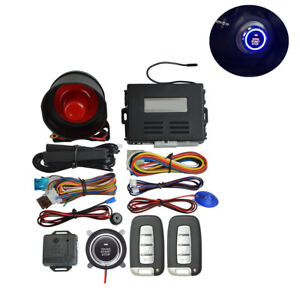 Car Alarm Engine Start Security System Keyless Entry Push Button Remote Kit