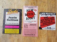 Konzertkarte Ticket Gebraucht New Model Army, Justin Sullivan 1989