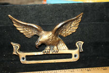"Antique 5"" Aluminum Gold/Brass Finish Eagle Mail Slot or Name Plate 716 E"