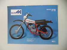 advertising Pubblicità 1977 MOTO MILANI CROSS CO-BE 50