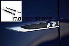 Coppia Fender Fregio Logo Laterale Volkswagen VW Golf V 5 VI 6 VII 7 R LINE
