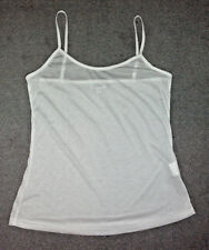 Millers: Size: 12. Modern Slinky Sleek Fresh-White, Stretch Cami Body Singlet