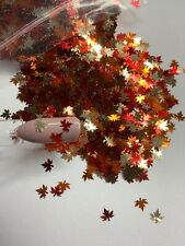 Fall Autumn Maple Leaves Nail Glitter | 1 TSP | Gel Nail Art & Acrylic