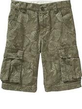 Old Navy Twill Printed Cargo Shorts - Size: 8 years old